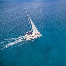 Catamaran en croisière