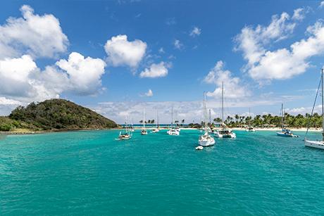 Mayreau catamaran salt whistle bay