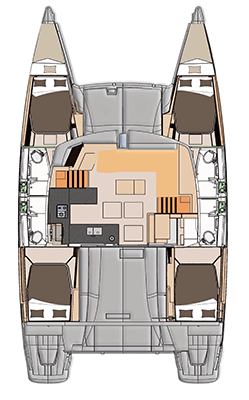 Catamaran fountaine pajot helia 44 plan